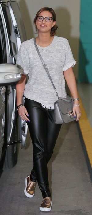TOWIE and I'm A Celebrity star Ferne McCann outside ITV Studios in London, 17th February 2016