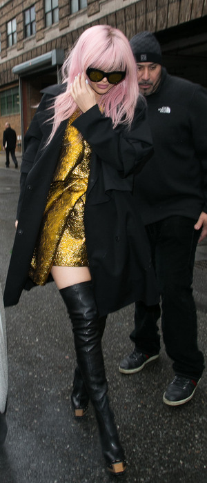 Kylie Jenner photographed on her way to the Vera Wang New York Fashion Week show in New York, 17th February 2016