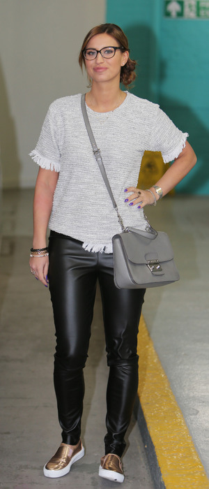 TOWIE and I'm A Celebrity...Get Me Out Of Here! star Ferne McCann outside ITV Studios in London, 17th February 2016