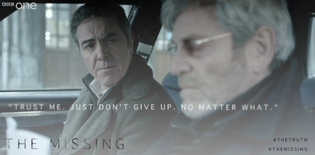 The Missing: James Nesbitt and Tchéky Karyo. December 2014.