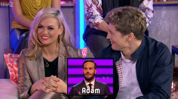 Beckie and James on Take Me Out: The Gossip. 13 February 2016.