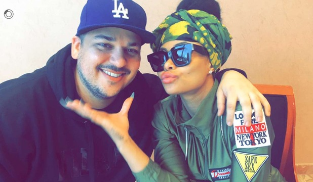 Rob Kardashian beams in new photo with girlfriend Blac Chyna. 18 February 2016.