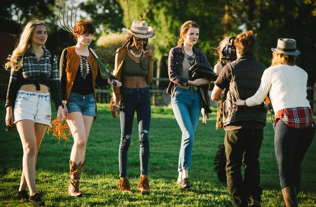 Britain's Next Top Model - ep 3 - Megan, Georgia, Billie, Chloe. February 2016.