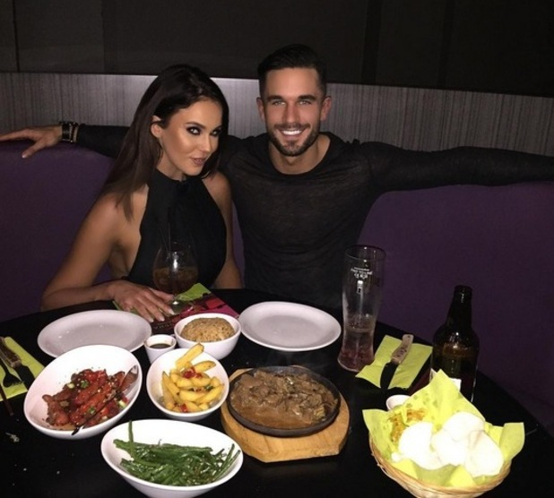 Vicky Pattison and Alex Cannon on a Valentines Day date, 14th February 2016