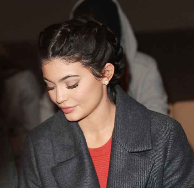 Kylie Jenner attends the Hugo Boss New York Fashion Week show after doing her own make-up, 18th February 2016