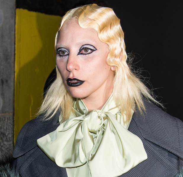 Lady gaga s elaborate eyeliner at marc jacobs show in new york new