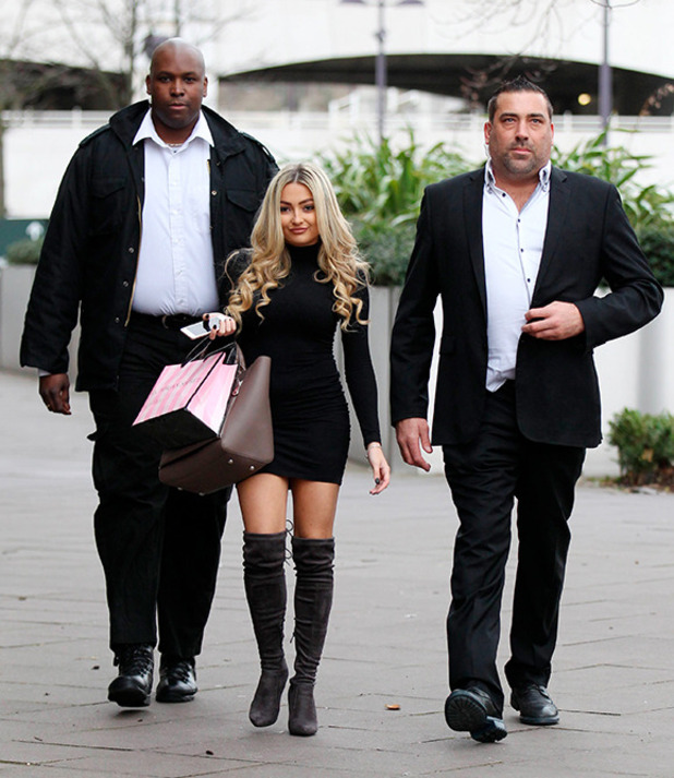 Lacey Fuller and bodyguards 9 Feb 2016