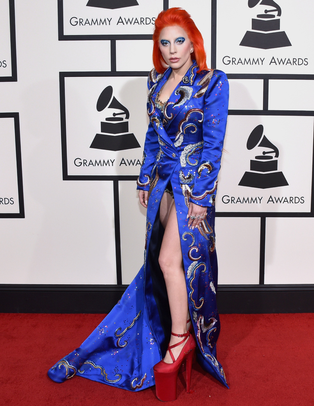 Lady Gaga attends The 58th GRAMMY Awards at Staples Center on February 15, 2016 in Los Angeles, California.
