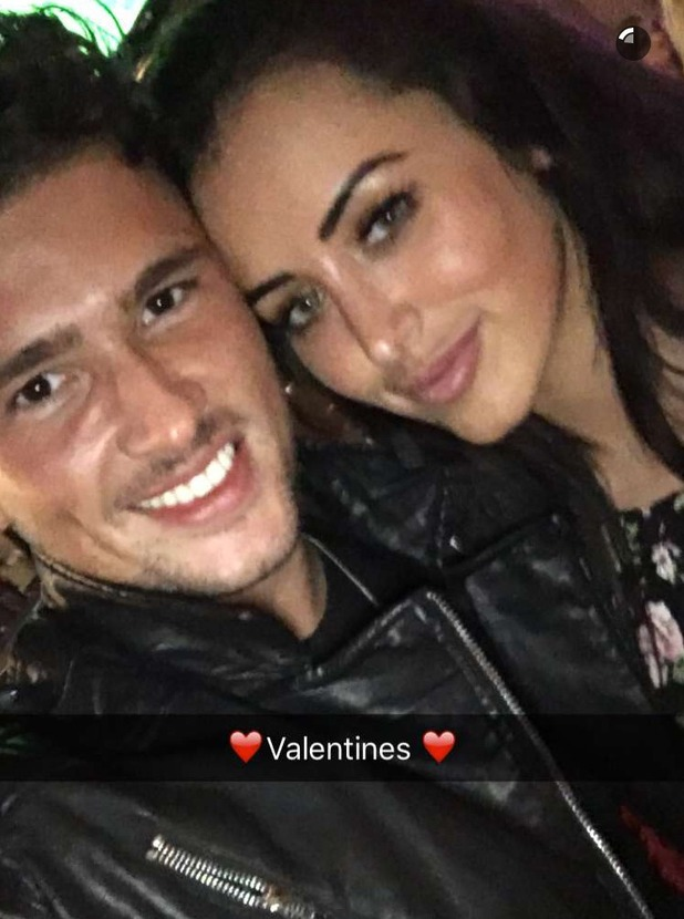 Jordan Davies and Marnie Simpson on Valentine's Day date. 14 February 2016. Ex On The Beach 5 cast confirmed: Jordan Davies 4 July