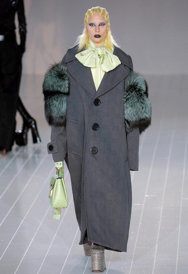 Singer Lady Gaga walks in the Marc Jacobs New York Fashion Week show, New York 19th February 2016
