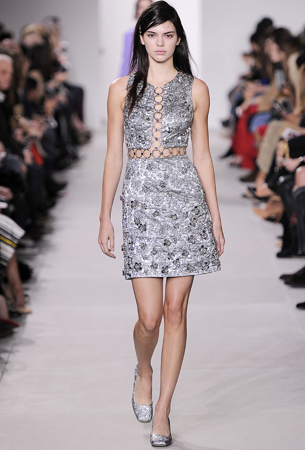 Kendall Jenner walking in the Michael Kors show, New York Fashion Week, New York, 18th February 2016