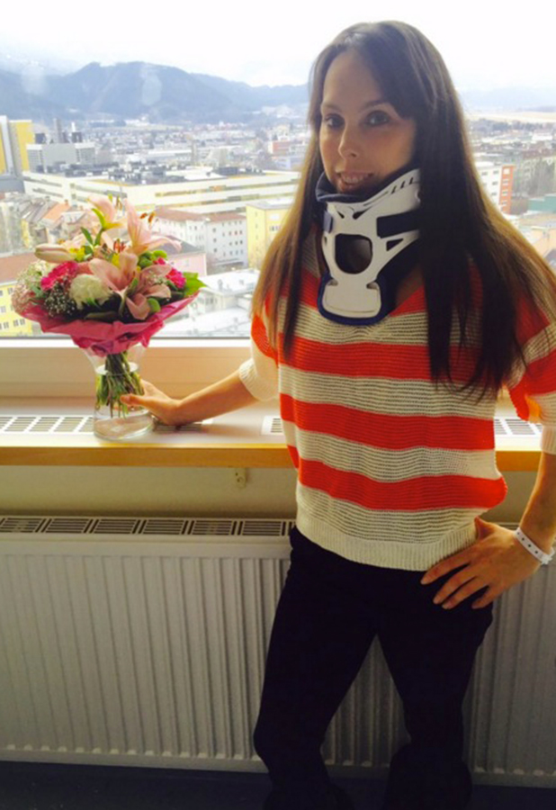 Beth Tweddle tells fans she's being discharged from hospital 16 Feb 2016