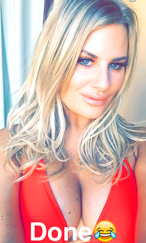 Danielle Armstrong shares Snapchat from Gran Canaria after TOWIE cast arrive for filming 16 February 2016