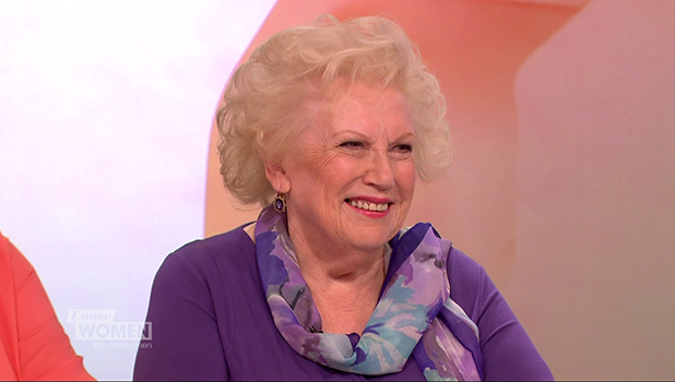 Denise Robertson appears on 'Loose Women' to promote her new book 'Don't Cry Aloud'. Broadcast on ITV1 HD