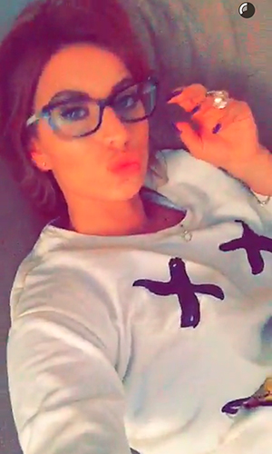 Ferne McCann promises big hair change, Snapchat, 18 Feb 2016