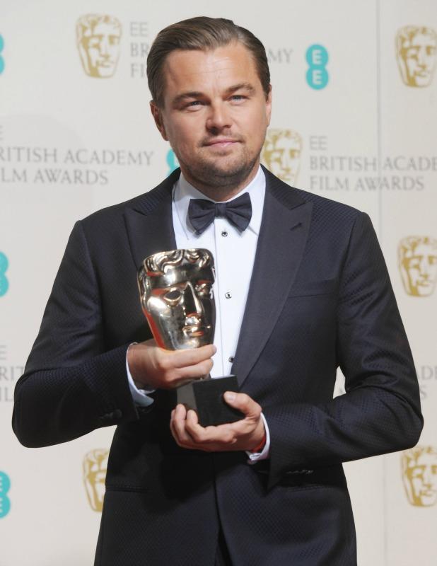 EE British Academy Film Awards (BAFTA) Awards Winners Room 2016 Leonardo DiCaprio