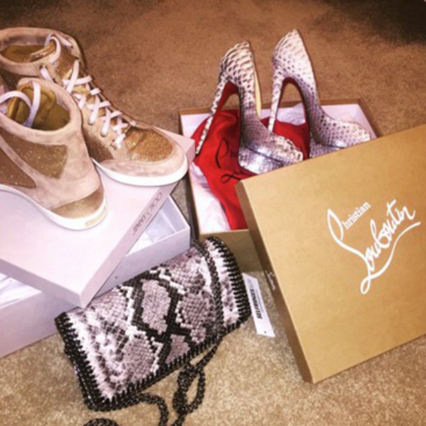 Megan McKenna's Valentine's Day treats for herself 14 February 2015