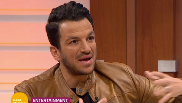 Peter Andre on Good Morning Britain, ITV, 17 February 2016