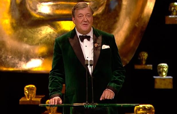 Stephen Fry hosting the BAFTAS 2016, 14 Feb