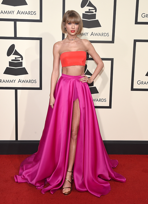 Taylor Swift attends The 58th GRAMMY Awards at Staples Center on February 15, 2016 in Los Angeles, California. (Photo by Jason Merritt/Getty Images for NARAS)