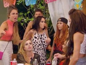 Ex On The Beach series three. Laura-Alicia eats Megan McKenna's cheese and ham sandwich.
