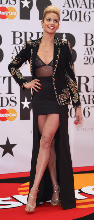 Alesha Dixon on the red carpet at the BRIT Awards at the o2 in London, 25th February 2016