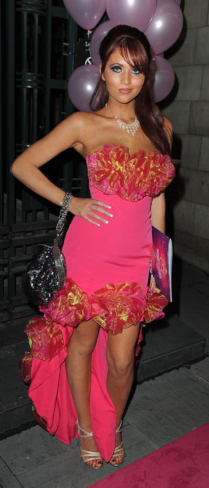 Amy Childs at the Legally Blonde premiere in London November 9th 2010