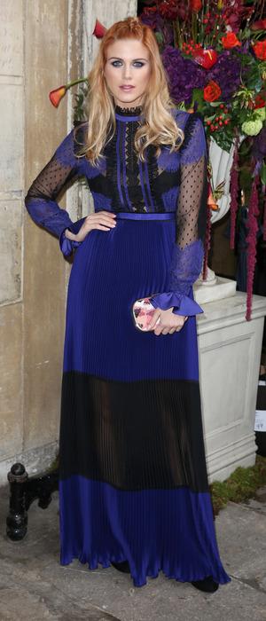 Ashley James attends London Fashion Week, London, 20th February 2016