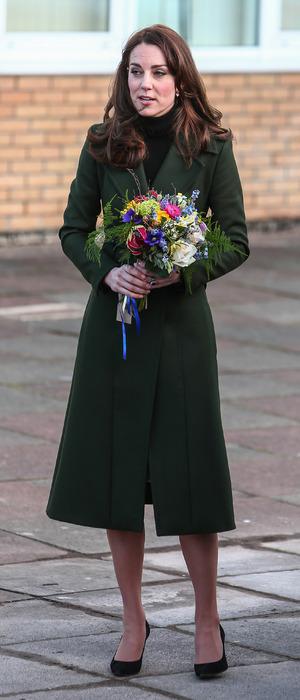 The Duchess of Cambridge, Kate Middleton, visits St.Mary's School in Edinburgh, Scotland, 24th February 2016