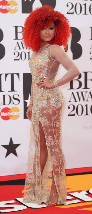 X Factor star Fleur East attends the BRIT Awards in London, red carpet arrivals, London, 25th February 2016