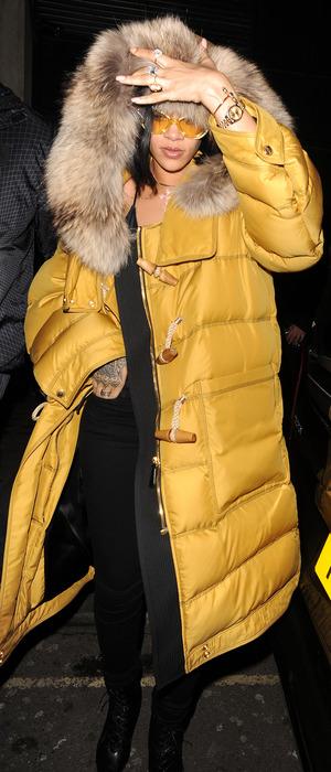 Rihanna arrives in London ahead of BRIT Awards performance, 23rd February 2016
