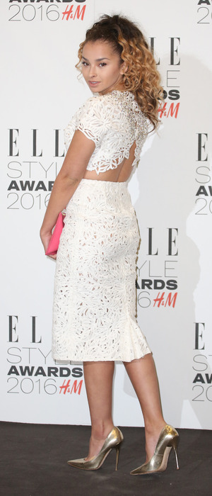 Singer Ella Eyre wears stunning white dress to the ELLE Style Awards in London, 23rd February 2016