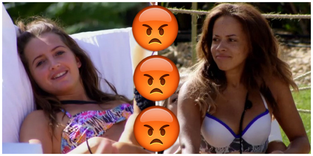 Olivia Walsh and Gina Barrett row on Ex On The Beach series four episode six, 23rd February 2016