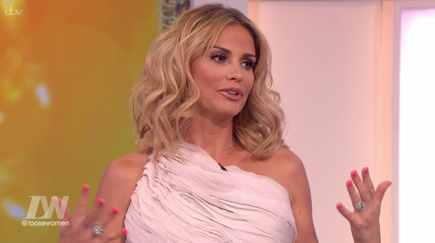 Katie Price, a panellist on 'Loose Women' - 26 February 2016.