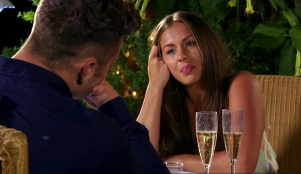 Ex On The Beach: James and Ashleigh dinner date 23 February