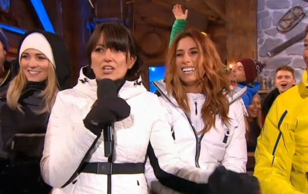 Stacey Solomon and Davina McCall, The Jump 21 February