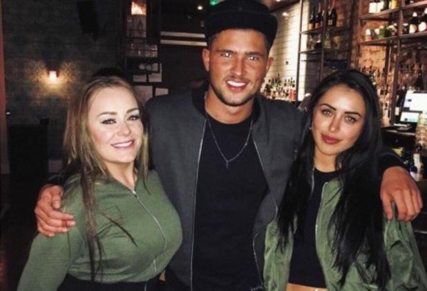 Jordan Davies calls Marnie Simpson and pal his 'girlband', Manchester 24 February