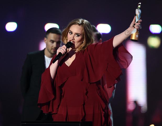 The Brit Awards, Show, O2 Arena, London, Britain - 24 Feb 2016 Adele - Best Female Solo Artist