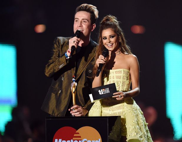 The Brit Awards, Show, O2 Arena, London, Britain - 24 Feb 2016 Nick Grimshaw and Cheryl Fernandez Versini