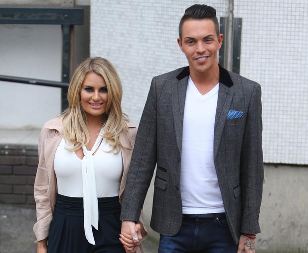 Bobby Norris and Danielle Armstrong outside ITV Studios, 26th February 2016