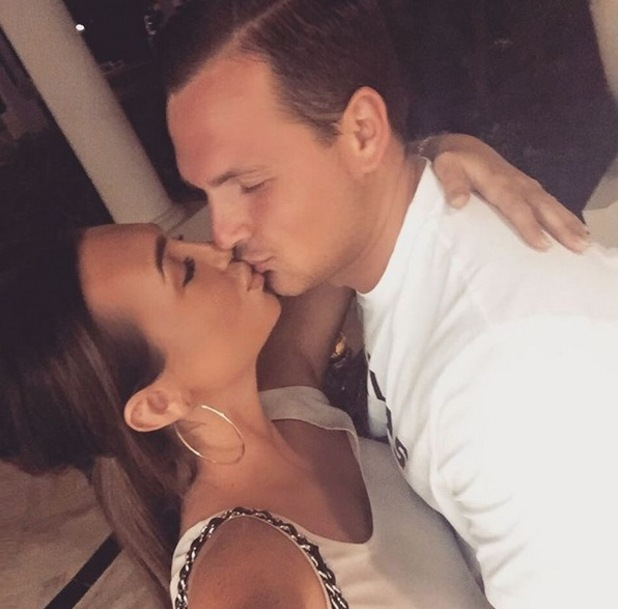 Lauren Goodger and Jake McLean kiss on holiday. 21 February 2016.