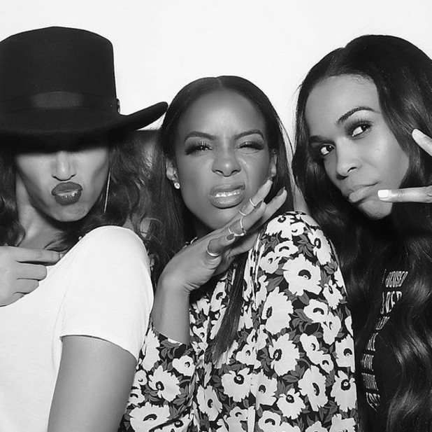 Kelly Rowland, Beyonce and Michelle Williams pose in photo booth snap at Kelly's birthday. 21 February 2016.