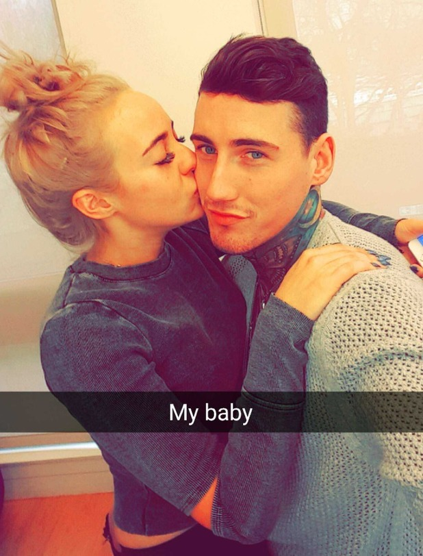 Stephanie Davis and Jeremy McConnell at the ITV studios waiting for their first joint TV interview. 26 February 2016.