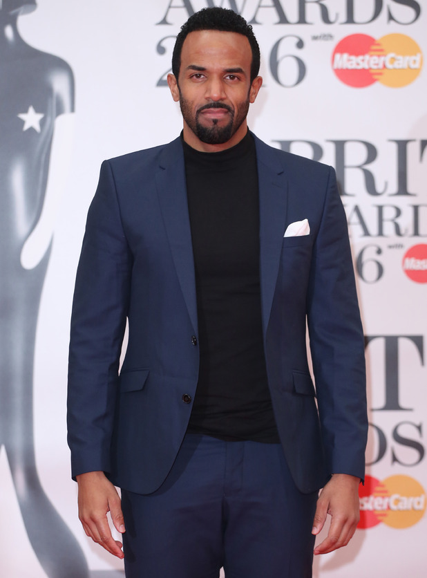 Craig David attends the BRIT Awards, London 24 February