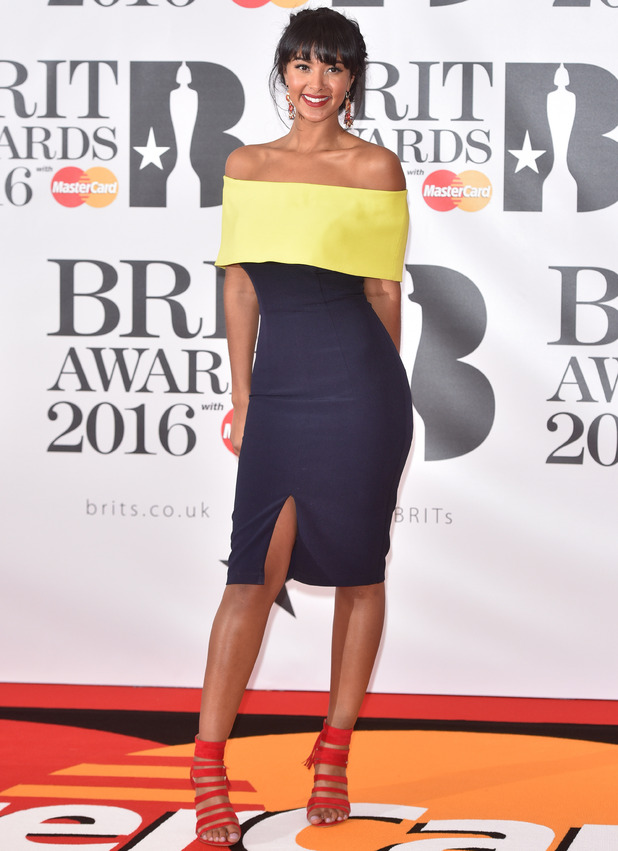Maya Jama at Brits 2016 - London - 24 Feb 2016