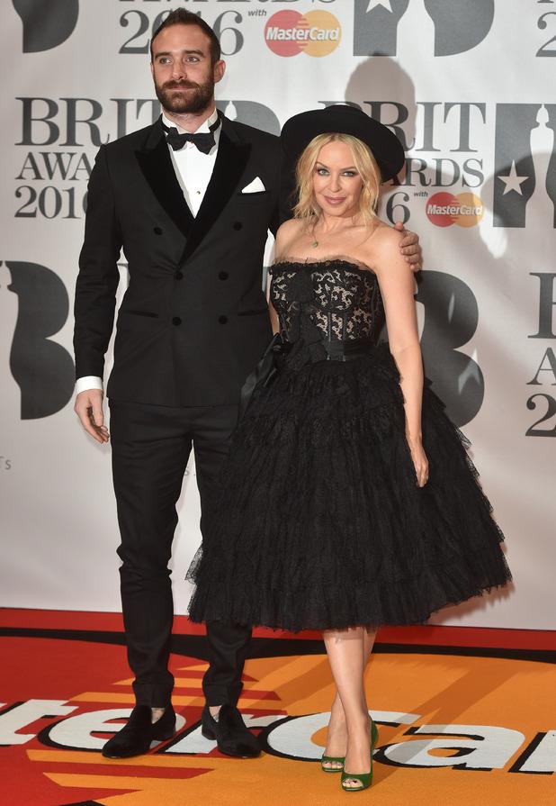 Joshua Sasse,Kylie Minogue at Brits 2016