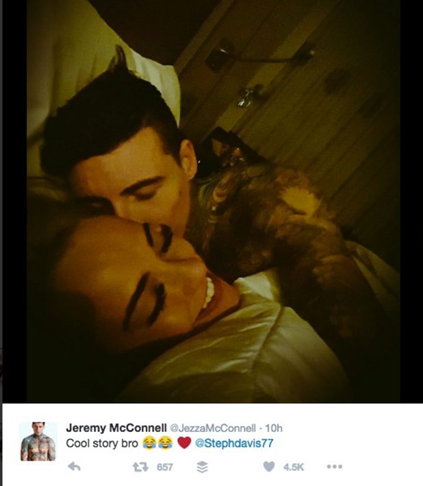 Jeremy McConnell and Stephanie Davis confirm romance is back on 23 February 2016