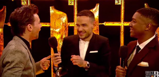 Louis and Liam talk to Rickie Haywood Williams at BRITS 24 February 2016