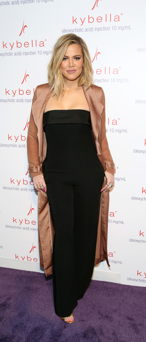 Khloe Kardashian shows off her figure at the Allergen Kybella launch in New York City, 3rd March 2016