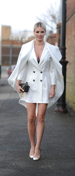 TOWIE star Chloe Sims spotted filming in Essex, 2nd March 2016
